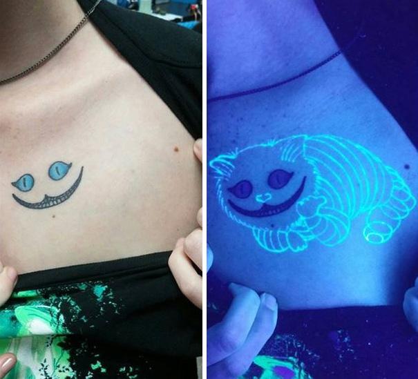 Tatuagens que brilham sob luz negra (12 pics)
