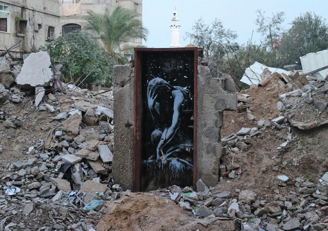 Street Art Pieces by Banksy in Gaza