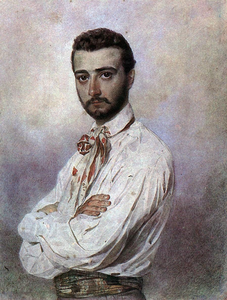 Портрет Винченцо Титтони. 1850-1852 Частное собрание
