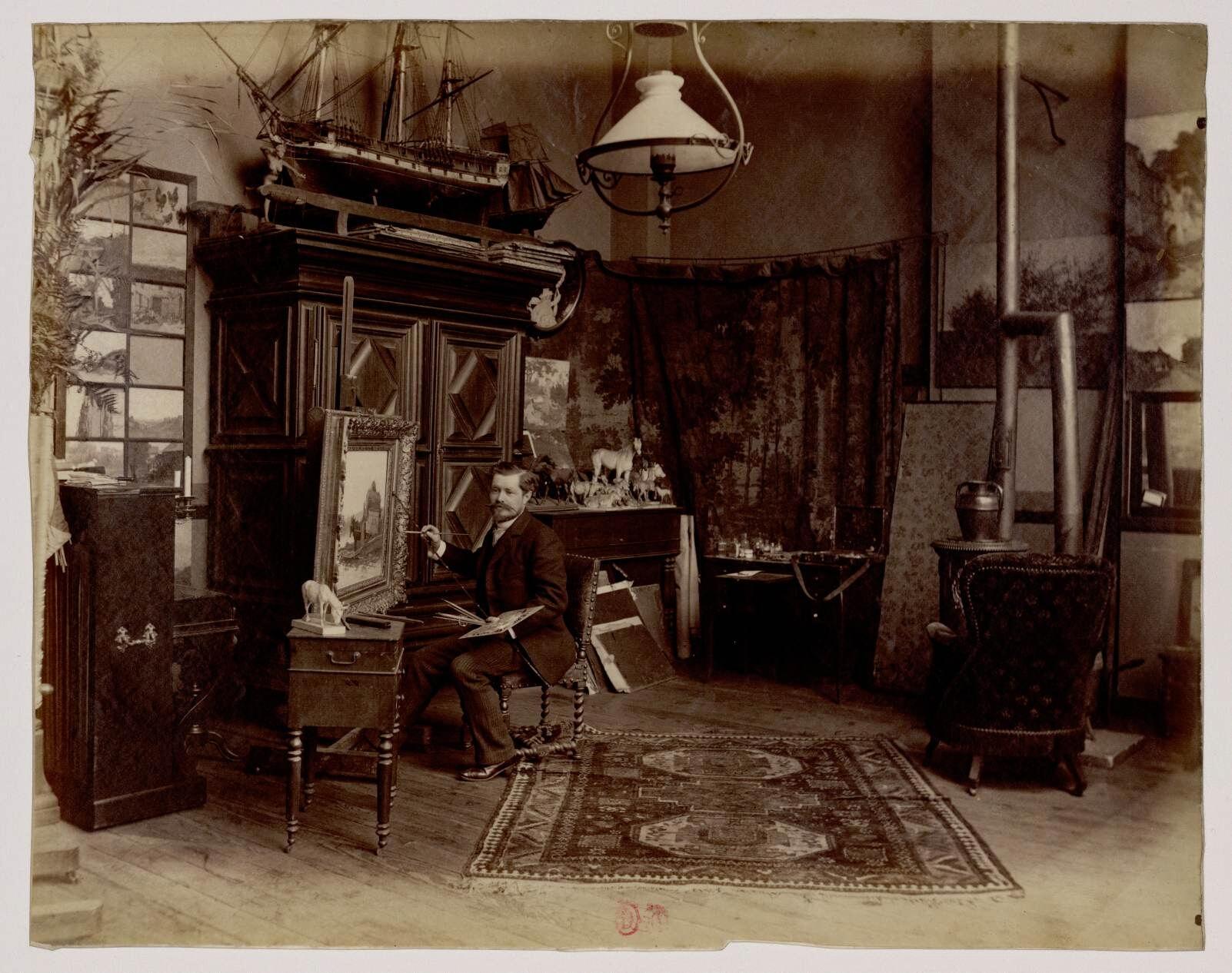 13. Эмиль Дамерон (1848-1908) - французский художник
