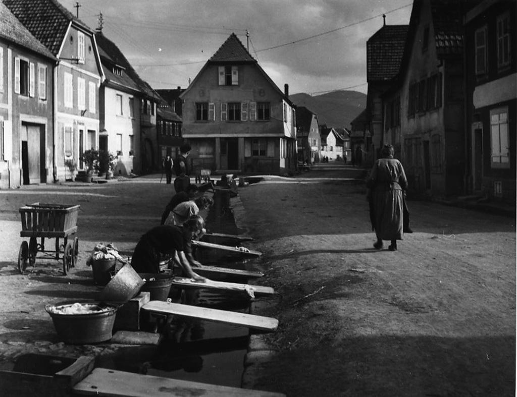 1945. Стирка в Эльзасе