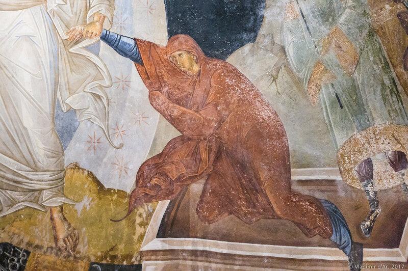 Сошествие во Ад. Ева. Мозаики и фрески монастыря Хора. Церковь Христа Спасителя в Полях.