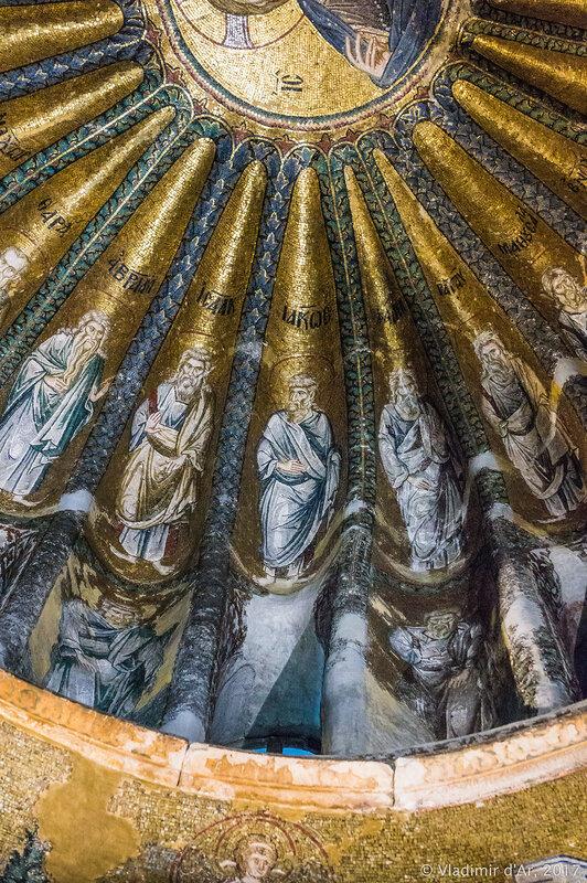 Христос Вседержитель. Праотцы и потомки Иакова. Мозаики и фрески монастыря Хора. Церковь Христа Спасителя в Полях.