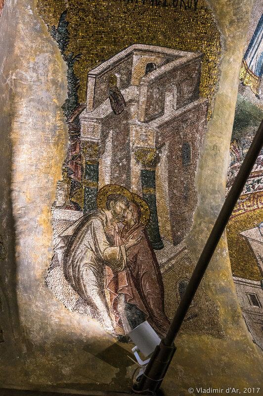 Иоаким и Анна. Зачатие Богородицы. Мозаики и фрески монастыря Хора.