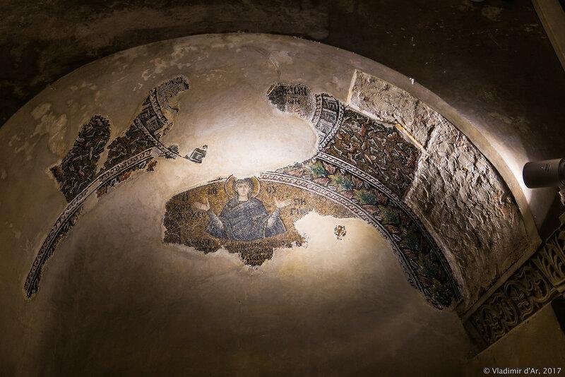 Богородица. Мозаики и фрески монастыря Хора. Церковь Христа Спасителя в Полях.
