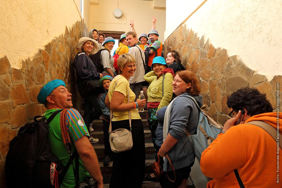 блогеры на верхней станции канатной дороги Ай-Петри
