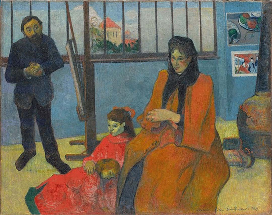 Schuffenecker's Studio  1889, Paul Gauguin (1848-1903)(2)