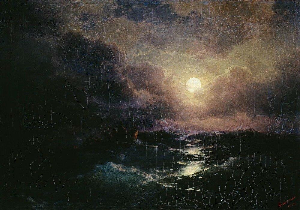 После бури. Восход луны. 1894.jpg