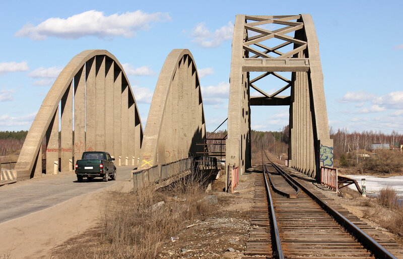 Мосты через реку Жабня, перегон Калязин - Углич