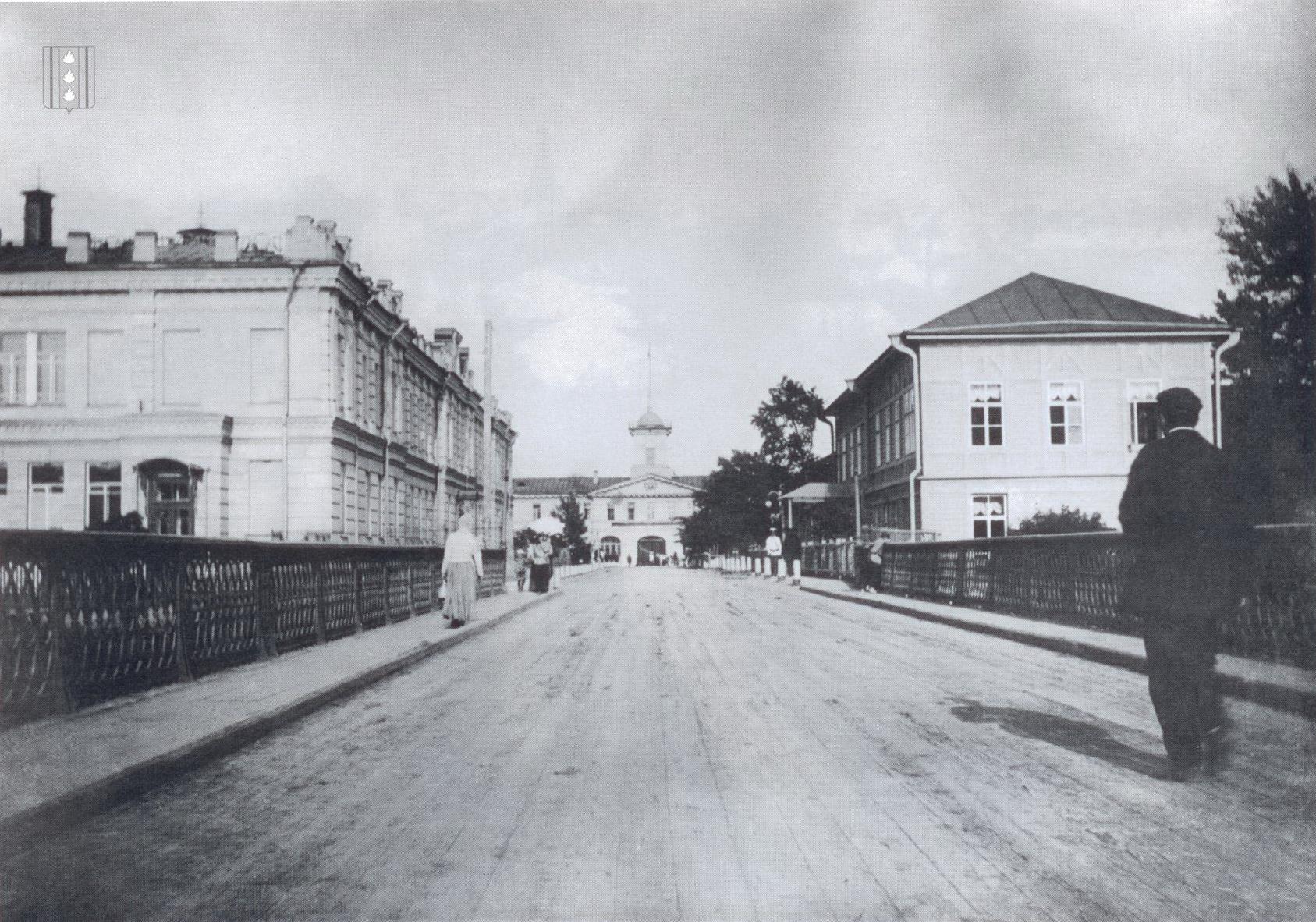 Колпино. Вид на заводоуправление Ижорского завода в створе Царскосельского проспекта