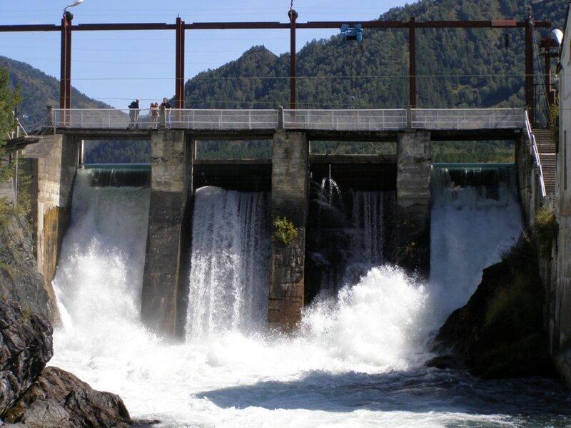 Водосброс Чемальской ГЭС