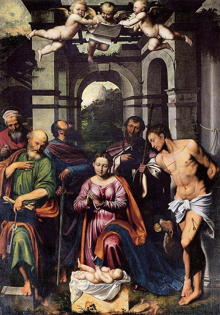 Callisto_Piazza_Da_Lodi_-_The_Adoration_of_the_Christ_Child_with_Saints_1538-_WGA17407.jpg