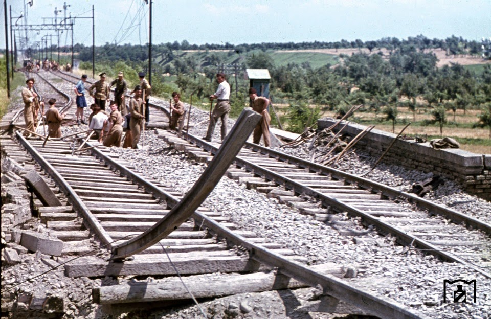 partisan attack targeted for disruption of rail services in Rioveggio.jpg