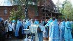 1 сентября у нашего храма престольный праздник – память Донской иконы Божией Матери. После Литургии торжественным крестным ходом все прошествовали к месту строительства возрождаемого Донского храма, где был отслужен водосвятный молебен