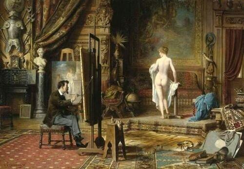 Carl Schweninger jr. The Artist's Studio