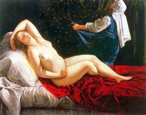 Artemisia Gentileschi Danae
