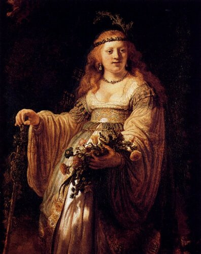 Rembrandt (1606-1669) Flora