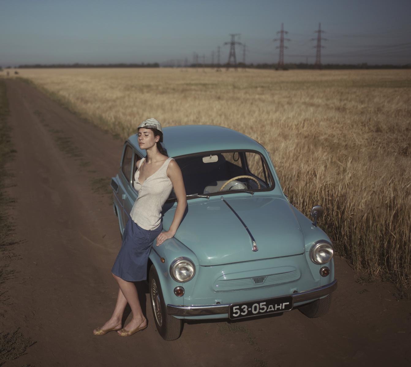 Жара, поле, Запорожец / фото Давид Дубницкий