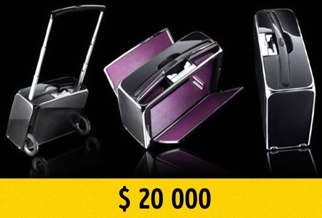 © henk-suitcase.com  Этот милый чемоданчик стоит $  20тыс. Онсделан изсамых разных экзотич