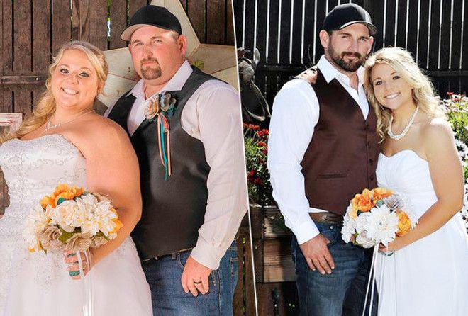 Пара с ожирением сбросила 150 килограммов ради своего ребенка (2 фото)