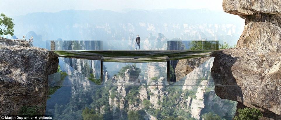 В Китае построят ещё один высокогорный мост со стеклянным полом (8 фото)