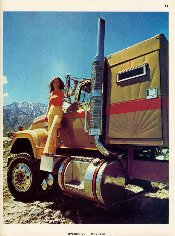 Американские грузовики 1970-х годов из журнала Overdrive Magazine