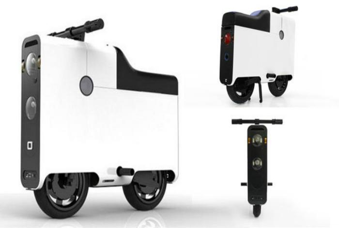 Чемодан, который превращается в скутер Не путешественник должен везти чемодан, а чемодан — путешеств