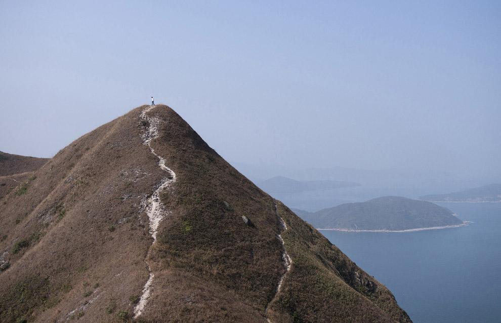 14. Живые и мертвые. Могилы на склонах холма перед жилыми домами в Гонконге. (Фото Kin Cheung):