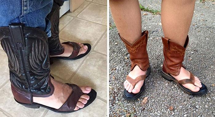 Ковбойские сапоги-сандалии от Redneck Boot Sandals.