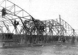 Строительство ангаров на аэродроме