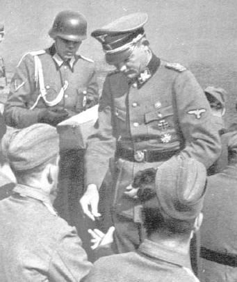 Эрвин Рёзенер и солдаты Словенского домобранства. 1944 год