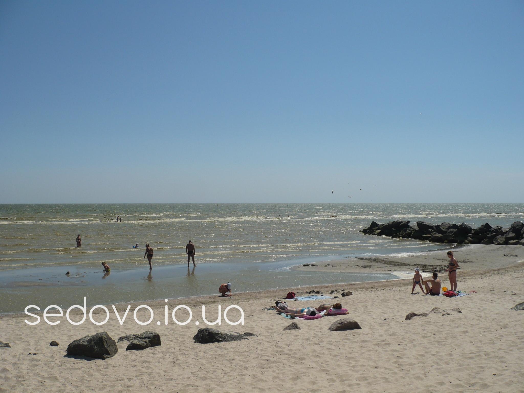 Седово отдых с маленьким ребенком пляж для купания