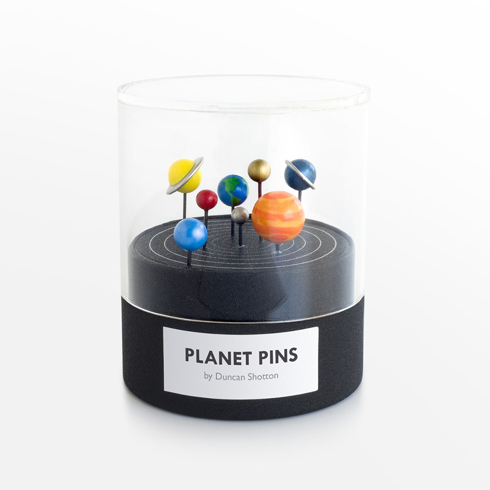 Hand-Painted Planetary Push Pins (5 pics)