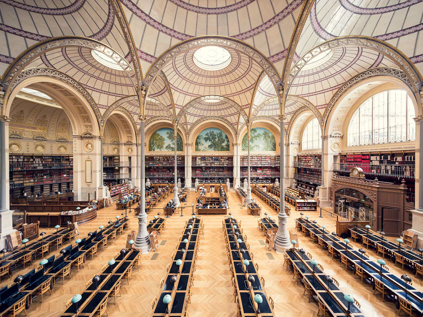 Bibliotheque Nationale de France, Salle Labrouste, Paris, 1868