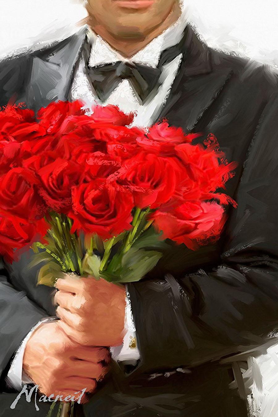 красивые фото мужчин с цветами стоит проверить, была