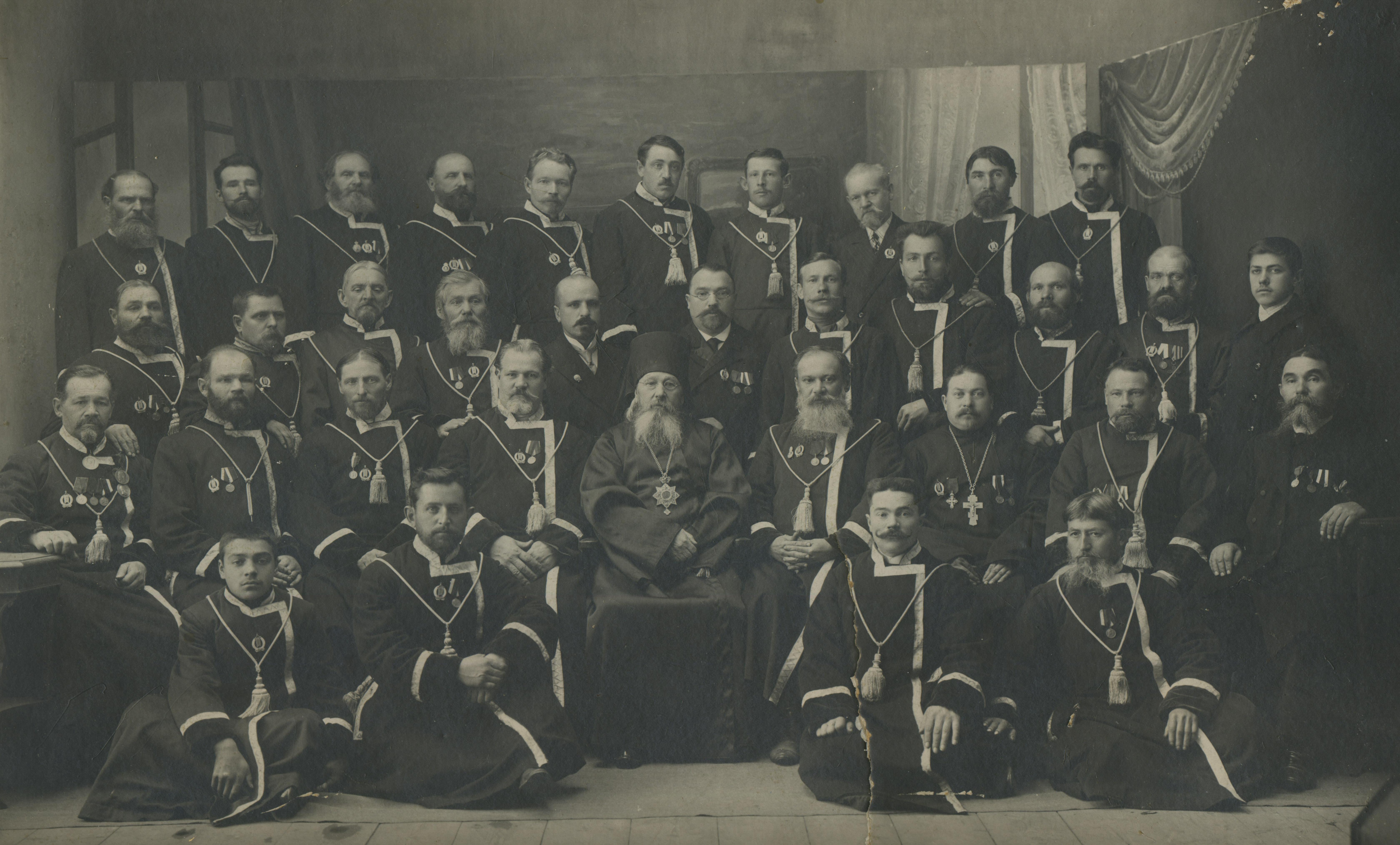 Общество хоругвеносцев при Муромском соборе. 1913