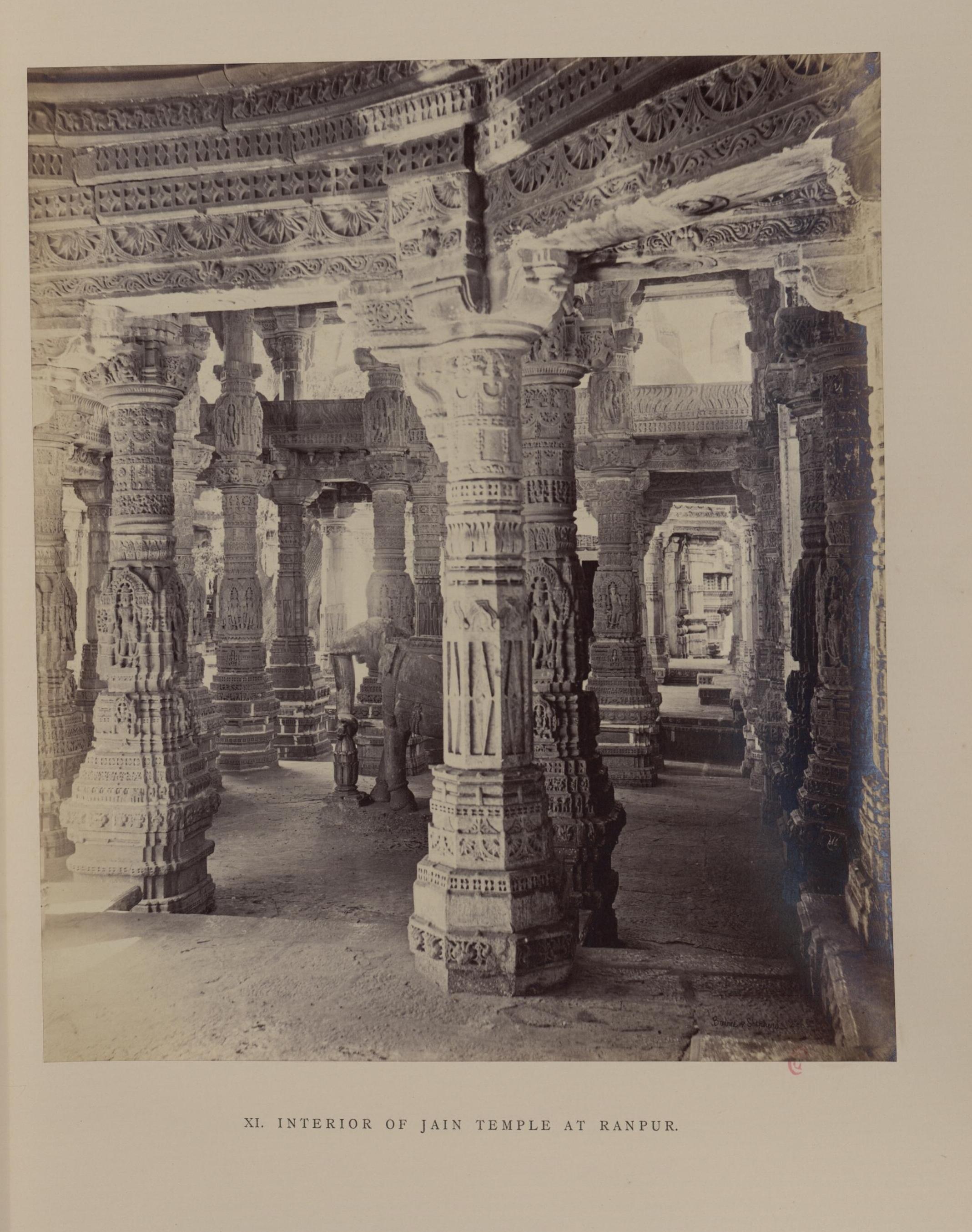 Рампур, Джайнский храм. Интерьер