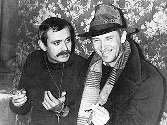 Никита Михалков и Станислав Любшин на съёмках фильма Никиты Михалкова «Пять вечеров». 1978 год. РИА Новости.jpg