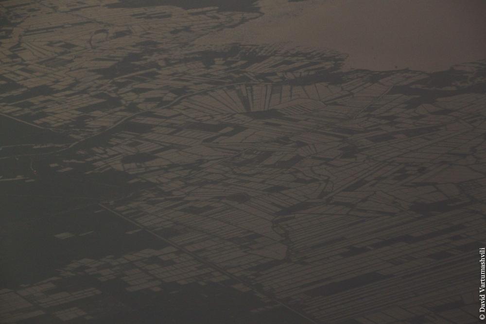Конго ДР, перелет в Киншасу, над Египтом