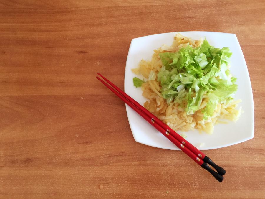 Китайский салат из картофеля