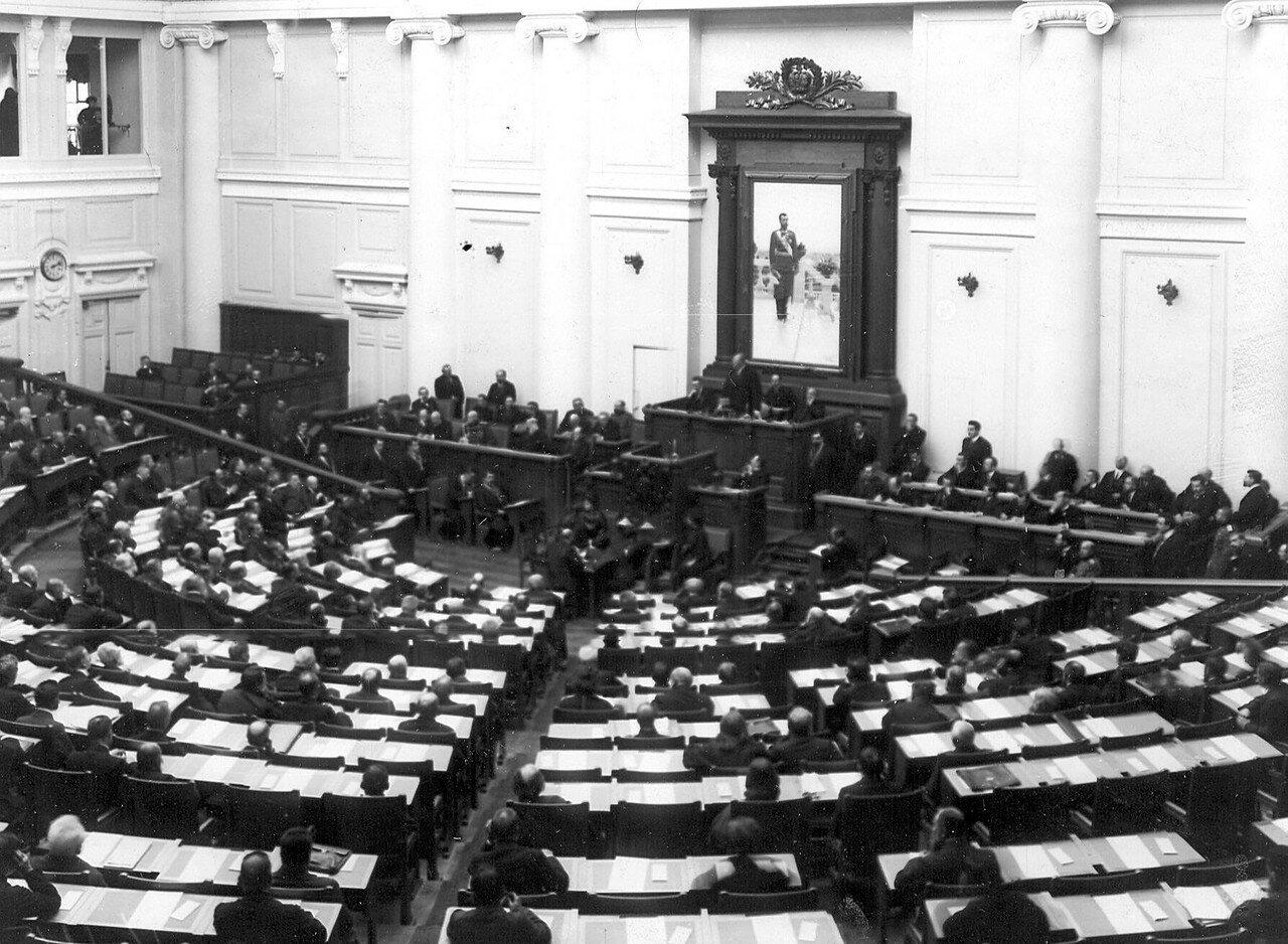 Открытие 5 сессии Третьей Государственной думы в зале заседаний Таврического дворца.  15 октября 1911