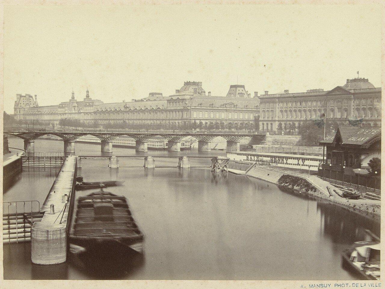 1860-е. Вид на Сену и Лувр