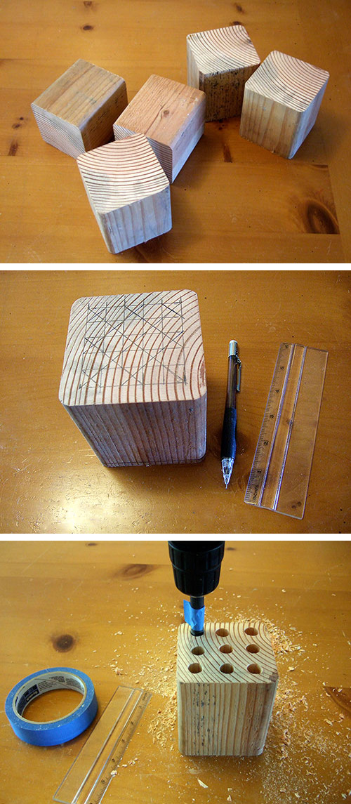 recycling: making pen holding for baby