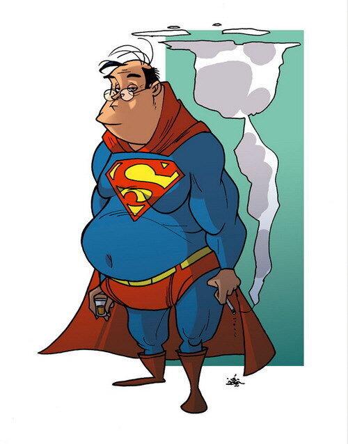 Карикатуры на супергероев от Дональда Соффитти