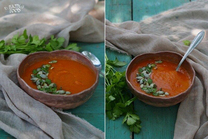 Тыквенный суп-пюре на грибном бульоне
