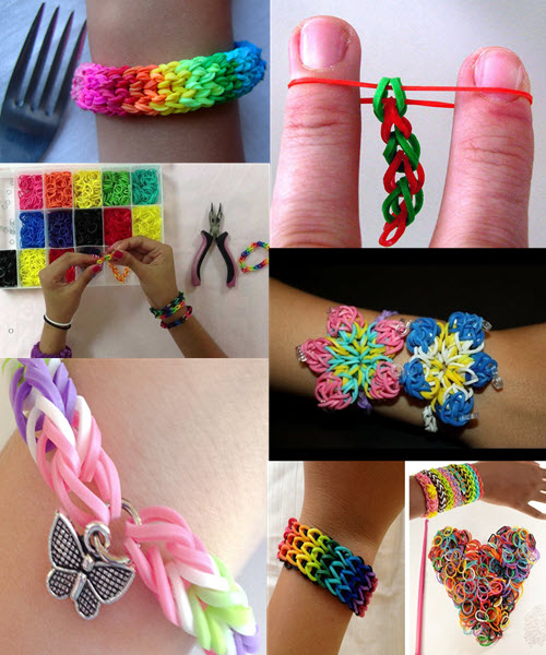 Красивые браслеты из резиночек как плести