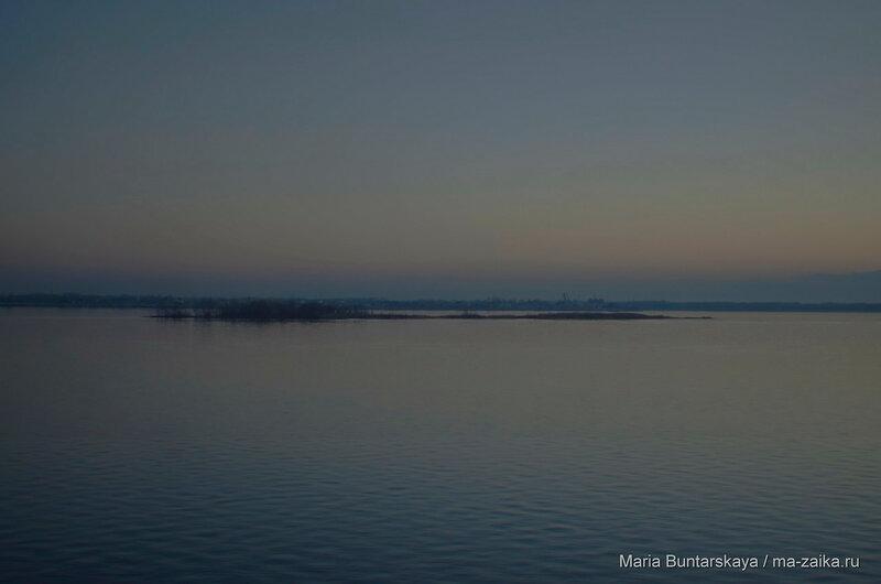Смеркалось, Саратов, Набережная Космонавтов, 29 ноября 2015 года