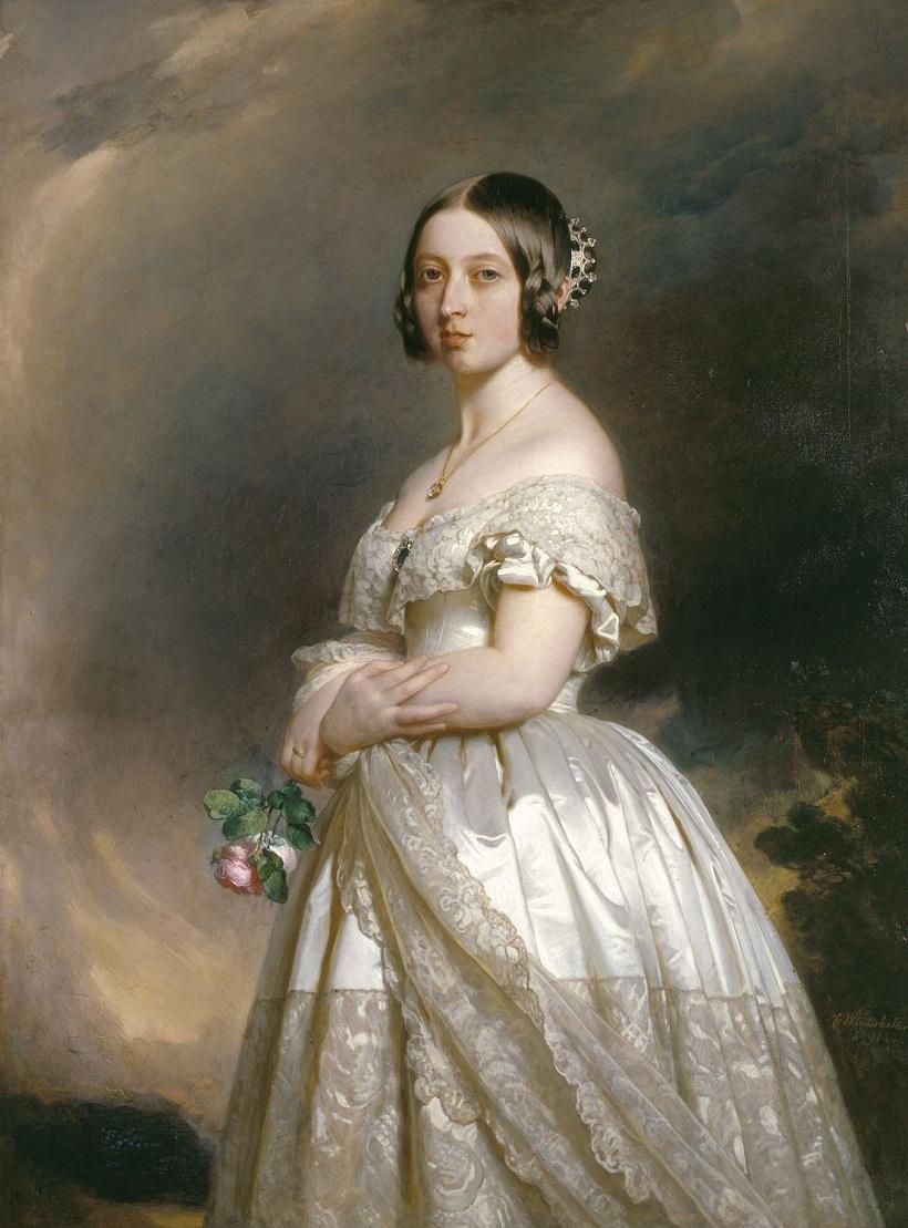 Королева Виктория (1819-1901)  Подпись и дата одна тысяча восемьсот сорок две