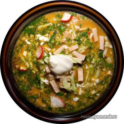 Суп из щавеля и свекольной ботвы
