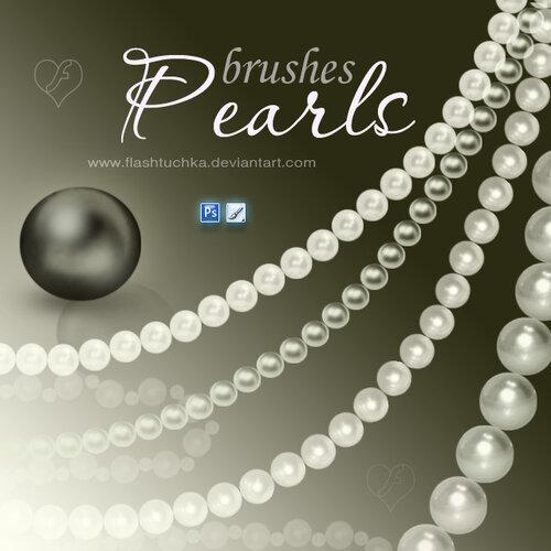 кисти жемчужные ожерелья